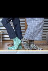 Knitted Wit The ShannaJean Club, August 2020. Take A Break Socks - Got the Blues Colorway