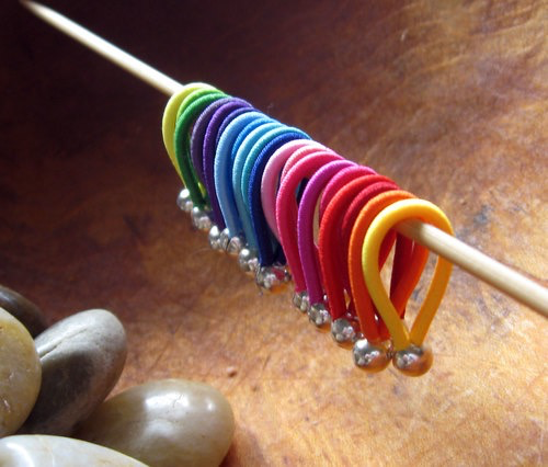 Floops Stitch Markers, Assorted Skinny sizes, Brilliant