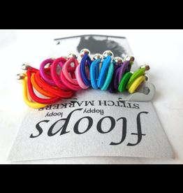 Floops Stitch Markers, Skinny medium, Brilliant