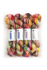 Hedgehog Fibres Hand Dyed Yarns Sock Yarn, Bijou