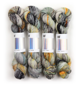 Hedgehog Fibres Hand Dyed Yarns Sock Yarn, Matchstick