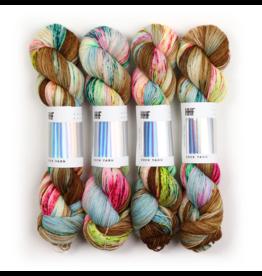 Hedgehog Fibres Hand Dyed Yarns Sock Yarn, Macaroon