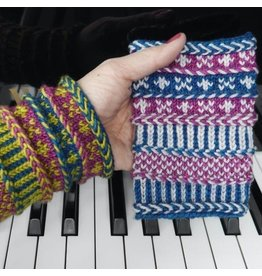 For Yarn's Sake, LLC Herringbone Braids and Beyond: Braided Wristlets.  Via Zoom, Sunday November 8, 2020. Class time: 1-3pm. Michele Lee Bernstein / PDX Knitterati