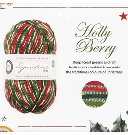 West Yorkshire Spinners Signature 4ply, Holly Berry
