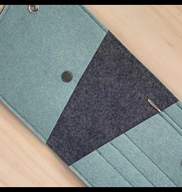 Binkwaffle OTG Maker's Wallet, Steel Blue