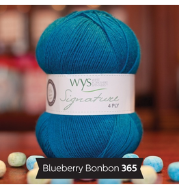 West Yorkshire Spinners Signature 4ply, Blueberry Bonbon #365