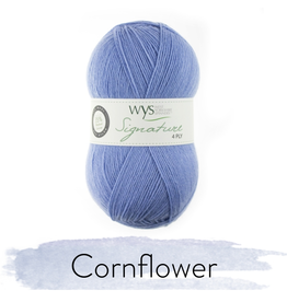 West Yorkshire Spinners Signature 4ply, Cornflower #325
