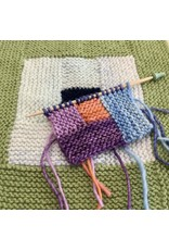 For Yarn's Sake, LLC Log Cabin Knitting.  Via Zoom Sunday February 7th, 1-3pm. Michele Lee Bernstein