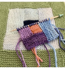 For Yarn's Sake, LLC Log Cabin Knitting.  Via Zoom Sunday February 7th, 1-3pm. Michele Lee Bernstein
