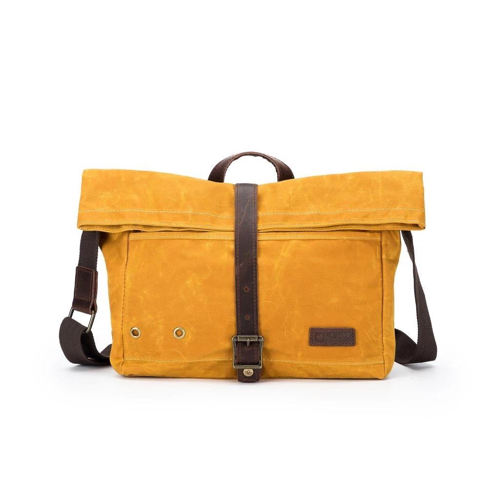 della Q Maker's Roll Top Bag, Mustard