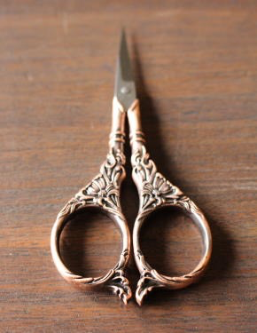 Botanical Garden Scissors in Antique Gold