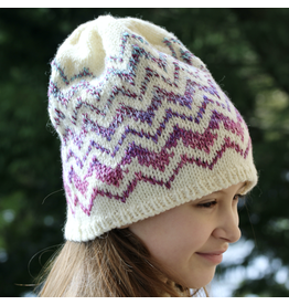For Yarn's Sake, LLC Springfield Chevron Hat Kit, Storm Cloud