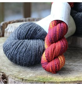For Yarn's Sake, LLC Sparks Sock Kit, Devilish Grin