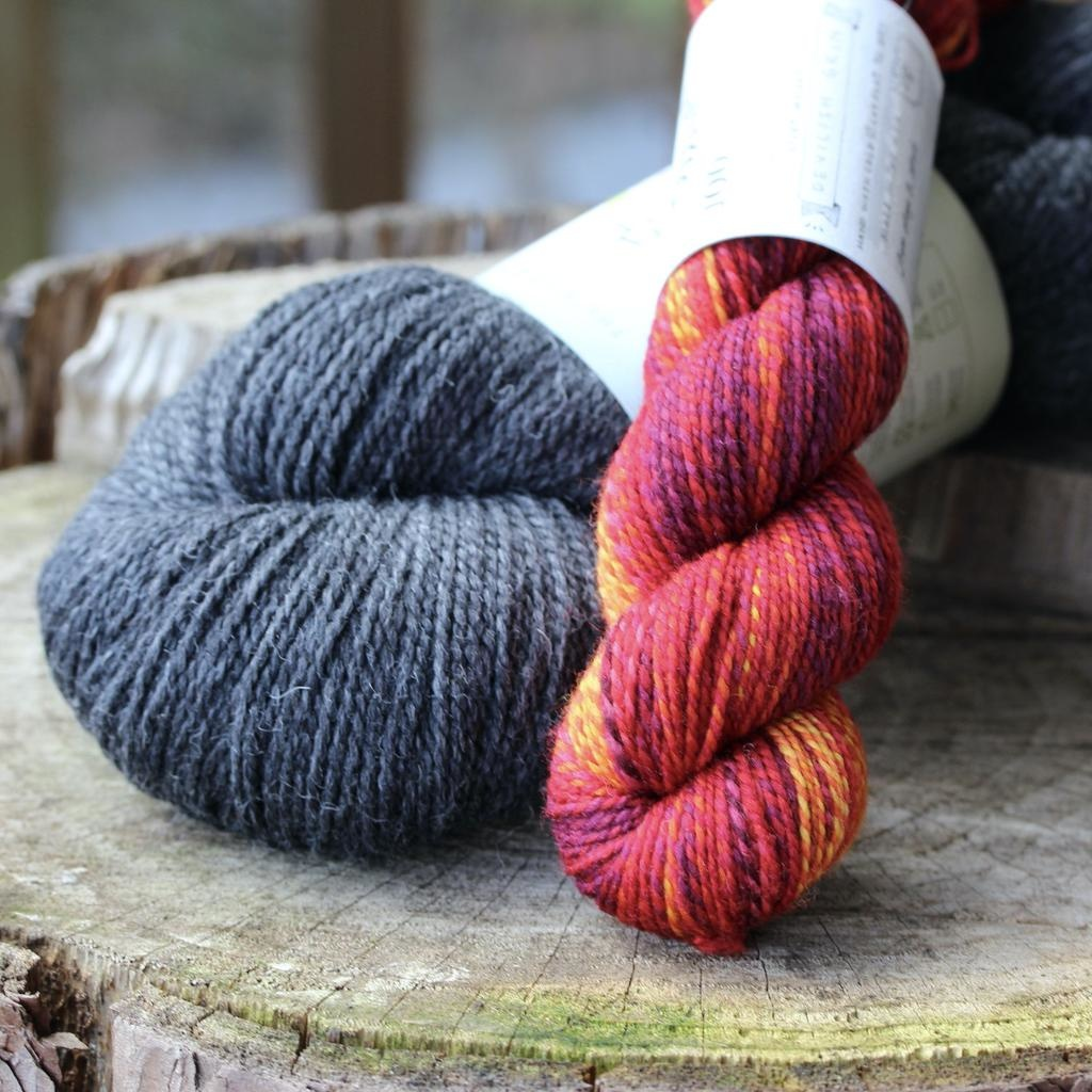 For Yarn's Sake, LLC Sparks Sock Kit, Devilish Grin