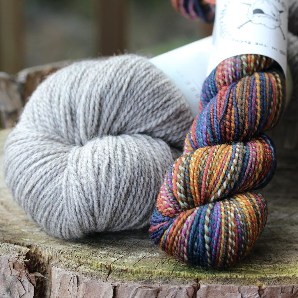 For Yarn's Sake, LLC Sparks Sock Kit, Shades of Earth