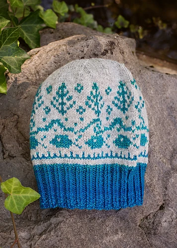 For Yarn's Sake, LLC McKenzie Hat Kit, Tangled Up In Blue