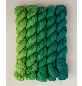 Sweet Georgia Party of 5, Tough Love Sock, Emerald