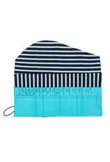 della Q Interchangeable Needle Case, Cyan Linen