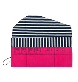 della Q Interchangeable Needle Case, Fuchsia Linen