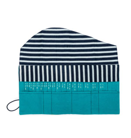 della Q Interchangeable Needle Case, Teal Linen