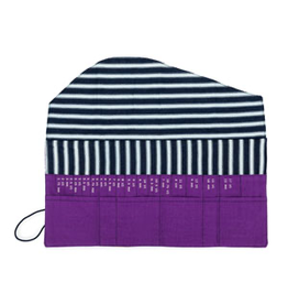 della Q Interchangeable Needle Case, Violet Linen