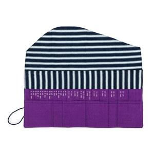 della Q Interchangeable Needle Case, Violet Linen