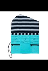della Q Tri-Fold Needle Case, Cyan Linen