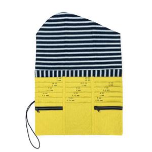 della Q Tri-Fold Needle Case, Citrine Linen