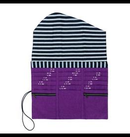 della Q Tri-Fold Needle Case, Violet Linen