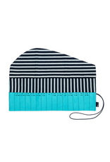 della Q Crochet Hook Roll, Cyan Linen