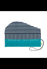 della Q Crochet Hook Roll, Teal Linen
