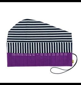 della Q Crochet Hook Roll, Violet Linen