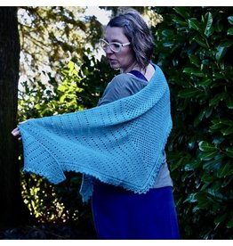 For Yarn's Sake, LLC 2021 RCYC Vesna Shawl Kit, Aquamarine