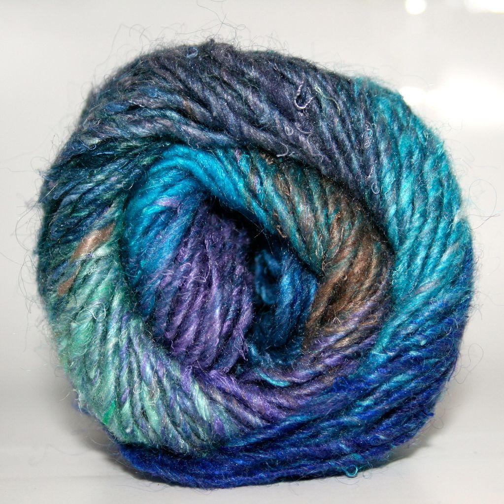 Noro Silk Garden, Blue, Sky, Royal, Lt. Green color 373