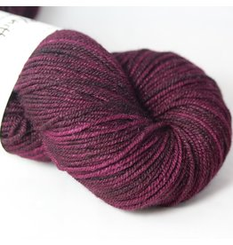 Knitted Wit Targhee Shimmer Worsted, Beaujolais (Discontinued)