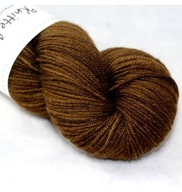 Knitted Wit Targhee Shimmer Worsted, Brown Sugar (Discontinued)