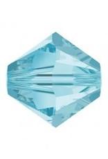 Rowan SHINE Swarovski Beads - 4mm, Aquamarine Selection