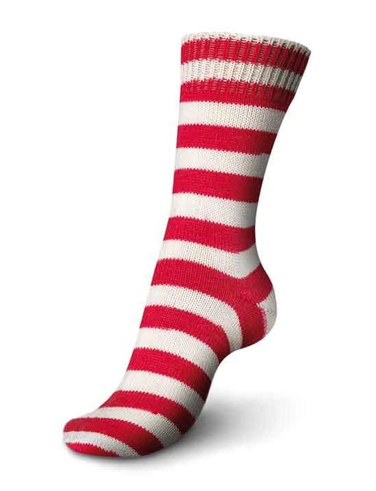 Schachenmayr Regia 4-ply, Red & White, Color 5392