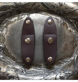 Jul Designs Oval Latch Leather Snap Closure - Pair Aubergine