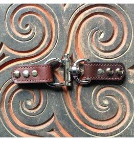 Closure Lisbon Leather Trigger Lock - Chocolate Brown