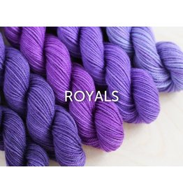 Sweet Georgia Party of 5 - Tough Love Sock, Royals (Retired Color)