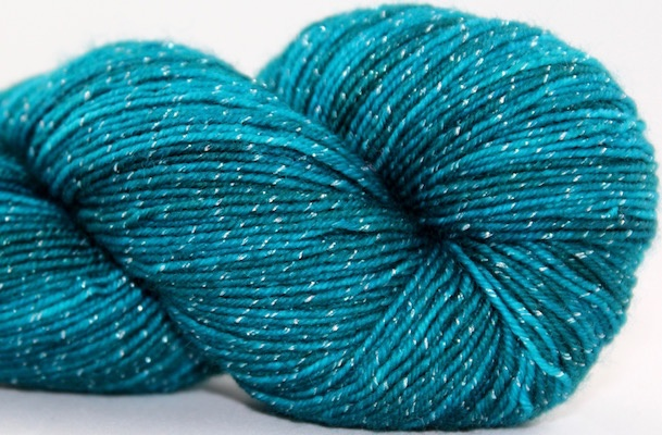 Knitted Wit Pixie Plied, Kiss & Teal