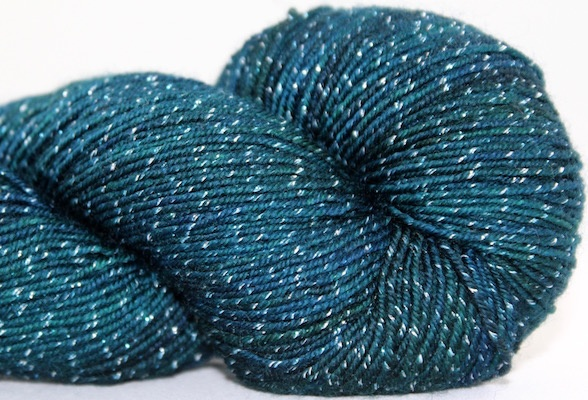 Knitted Wit Pixie Plied, Black Forest