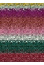 Noro Kureopatora, Reds, Pink, Hunter Green Color 1028