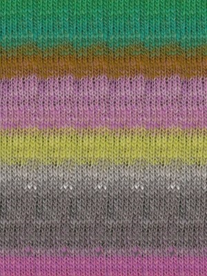 Noro Kureopatora, Grey, Pink, Green Color 1030