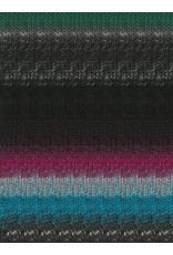 Noro Kureopatora, Black, Turquoise, Forest Color 1032