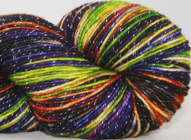 Knitted Wit Pixie Plied, Witches Brew