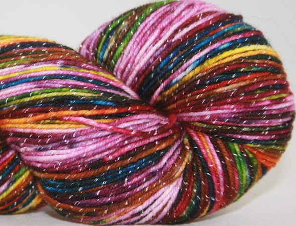 Knitted Wit Pixie Plied, Autumn Rainbow