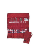 della Q Double Interchangable Needle Case, Red