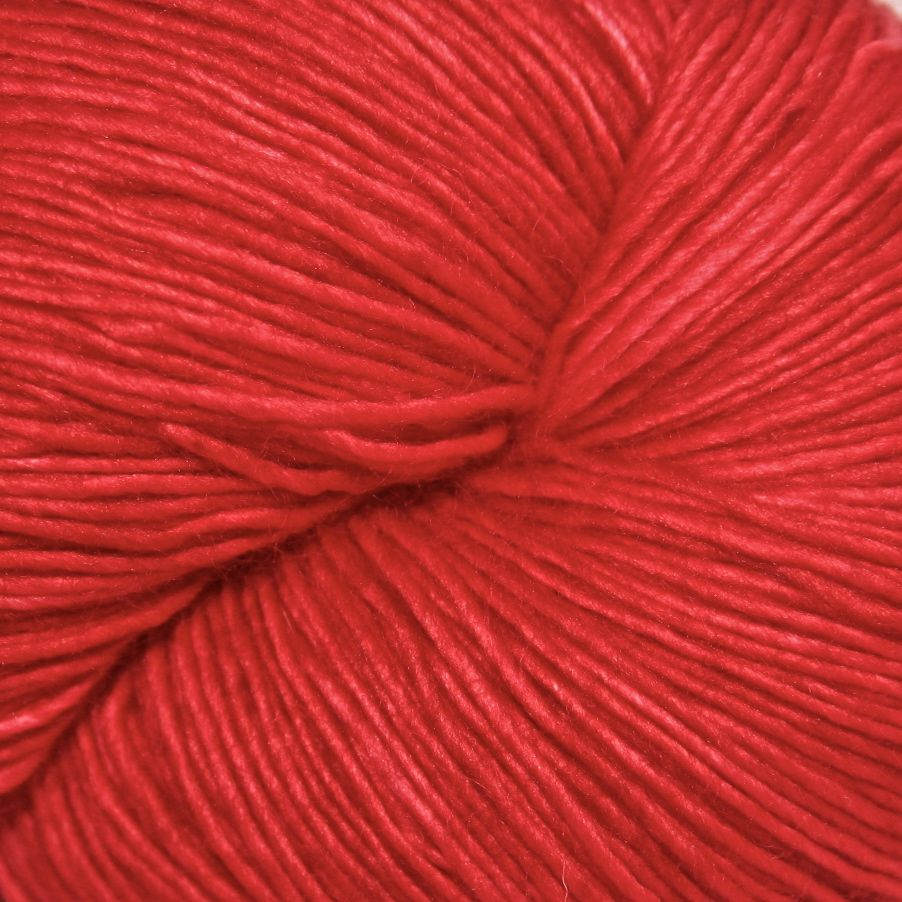 Knitted Wit Single Fingering, Red